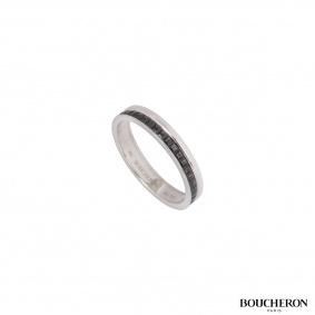 Boucheron White Gold Quatre Black Edition Wedding Band JAL00206